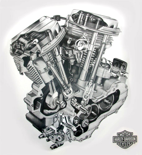 I need a Twin Cam cutaway view for a tattoo VTwin Forum Harley – Knucklehead Engine Diagram