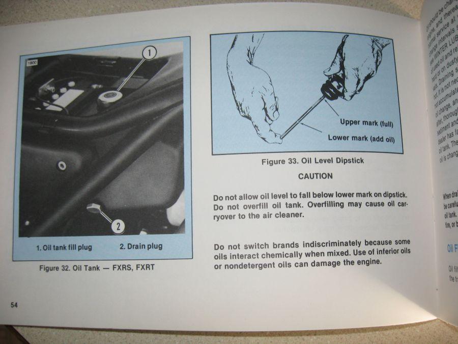 1985 FXRS oil level check, oil change   V-Twin Forum
