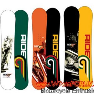 V-Rod snowboards by Ride snowboards