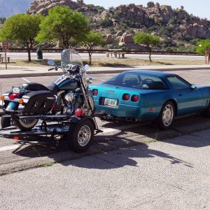 Vette and Road King