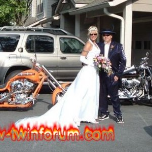 Wedding Photo with bikes