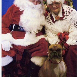 KC with Santa and Mrs. Clause