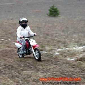Daughter's Honda CRF50F